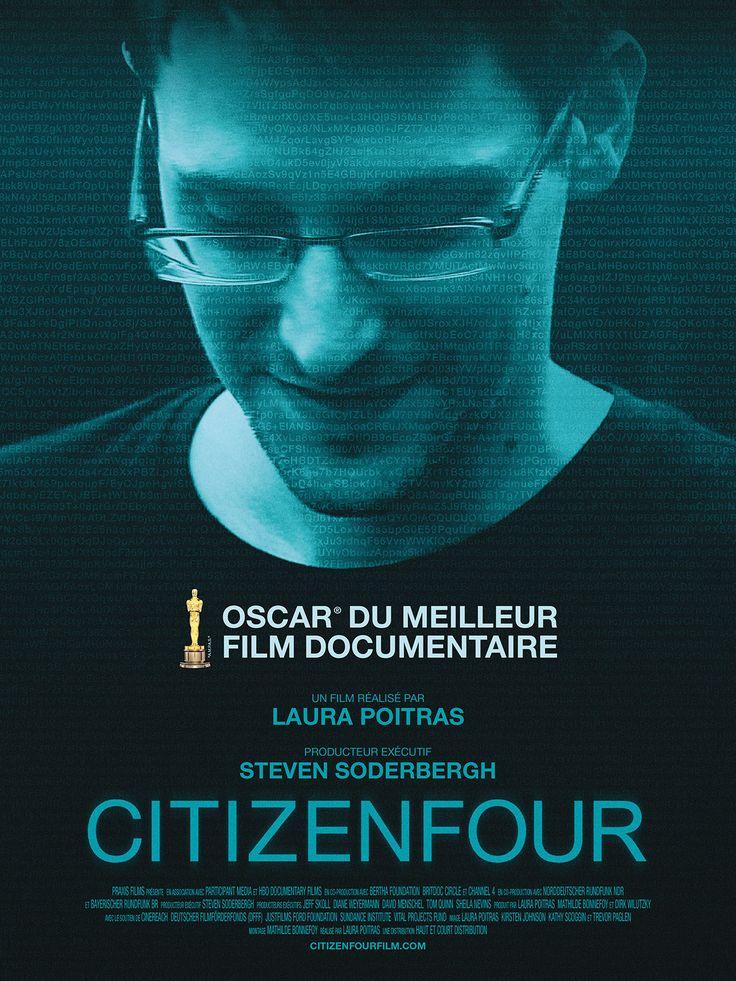 Citizenfour est un film documentaire de Laura Poitras avec Edward Snowden, Glenn Greenwald. Synopsis : En 2013, Edward Snowden déclenche l'un des plus grands séismes politiques aux Etats-Unis en révélant des documents secret-défense de la NSA. Sous le nom le code « CITIZENFOUR », il contacte la documentariste américaine Laura Poitras. Elle part le rejoindre à Hong Kong et réalise un portrait intime d'Edward Snowden. http://www.allocine.fr/film/fichefilm_gen_cfilm=231662.html