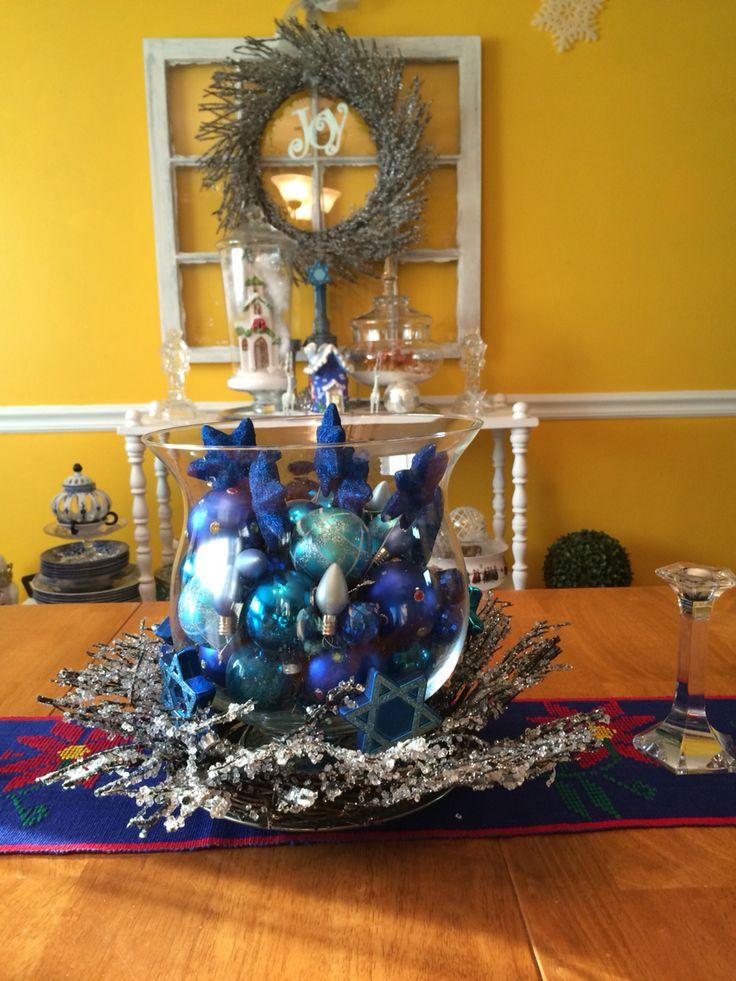 ... Hanukkah/ Hanukkah Decorations/ Blue And silver Decorations/2015