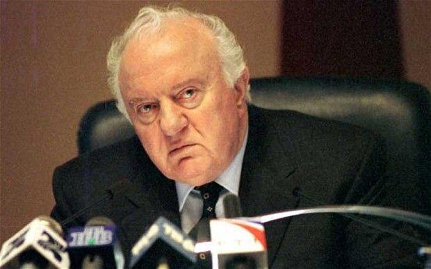 Former Georgia President Eduard Shevardnadze stepped down in 2003