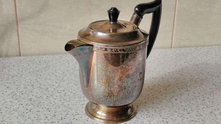 Ceainic Art Deco Placat cu Argint-Viners of Sheffield-Made In England Bucuresti  • OLX.ro
