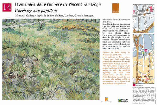 """L'herbage aux papillons"" #peinture #provence #vangogh #saintremydeprovence"