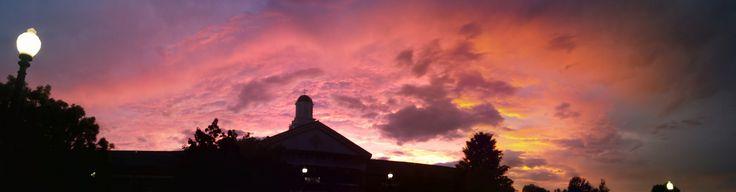 https://flic.kr/p/J7gcJb | Sunset Panorama | Hanover College, Indiana.