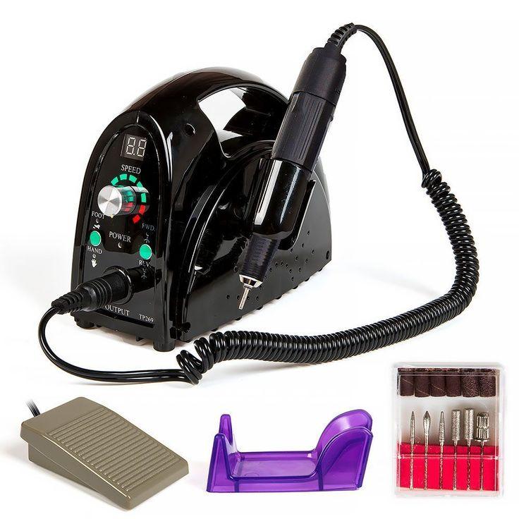 Nail File Drill Glazing Manicure Machine Portable Salon