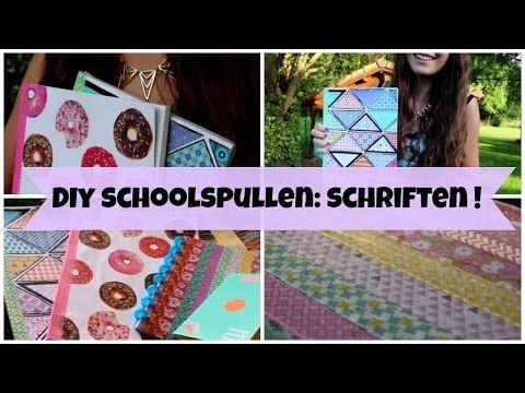 ▶ DIY schoolspullen: schriften! - YouTube