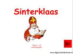 Laat Sinterklaas maar komen met zijn Zwarte Pieten. Er is weer een les op de site bij digibordonderbouw.nl . Sinterklaas tellen  1 tot en met 10. De kinderen tellen de Pieten en de Sint . http://digibordonderbouw.nl/index.php/themas/sinterklaas/groep1/viewcategory/353