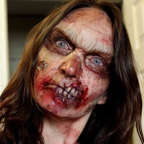 Zombie Prosthetic makeup by Rhonda Causton(Reel Twisted FX) #Twisted #Zombie #SpecialEffects #ProstheticMakeup #Halloween #Halloweeniscoming #Hall