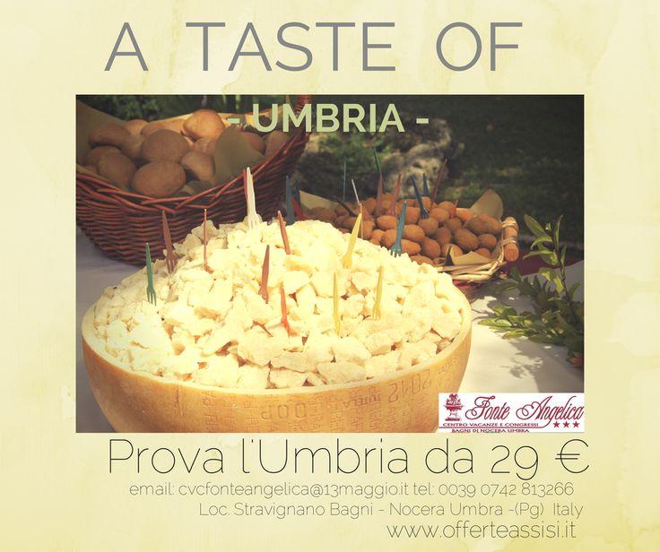 Per i #PrimidItalia abbiamo il cacio per i maccheroni. #AtasteofUmbria Prova l'Umbria da 29 €