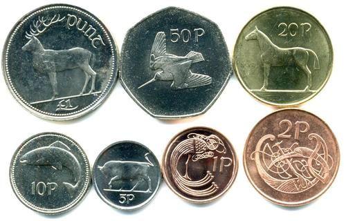Ireland Language | ireland irish money 1p 2p 5p  I remember the old Irish currency. Beautiful graphics. Is é an trua. Gaeilge