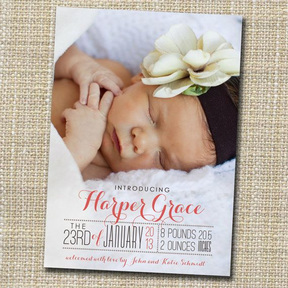 birth announcements without photos