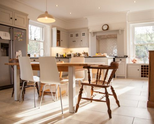 Ideals Homes magazine featured this wonderfully airy handmade kitchen we made for a family near Corbridge