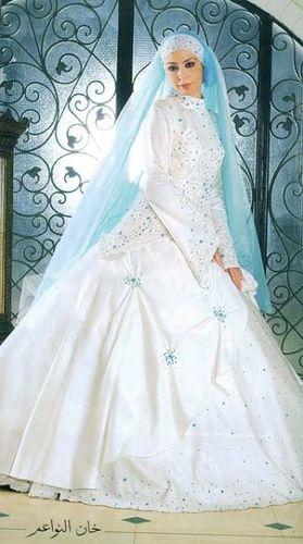 hijab wedding dress by Ranoush., via Flickr