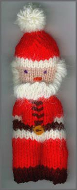 Free Knitting Pattern For A Christmas Santa Ornament