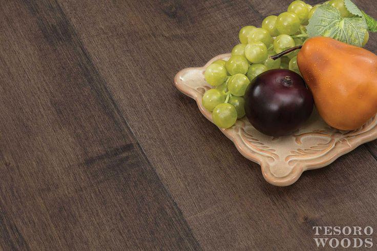 Rustic, 7″ engineered maple wood flooring, Clay