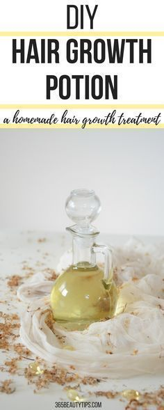 Make your hair grow faster and stronger with this #hairgrowth potion! Learn how to make this #natural #homemade #hair treatment. #haircare #hairloss