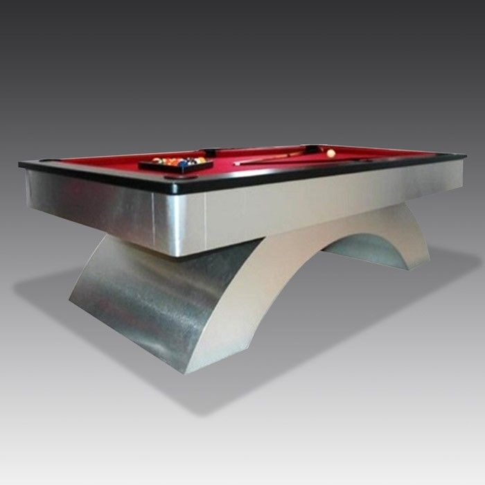 Our brushed steel Octavia #pooltable has taken centre stage in our showroom window today...#gamesroom #newstock