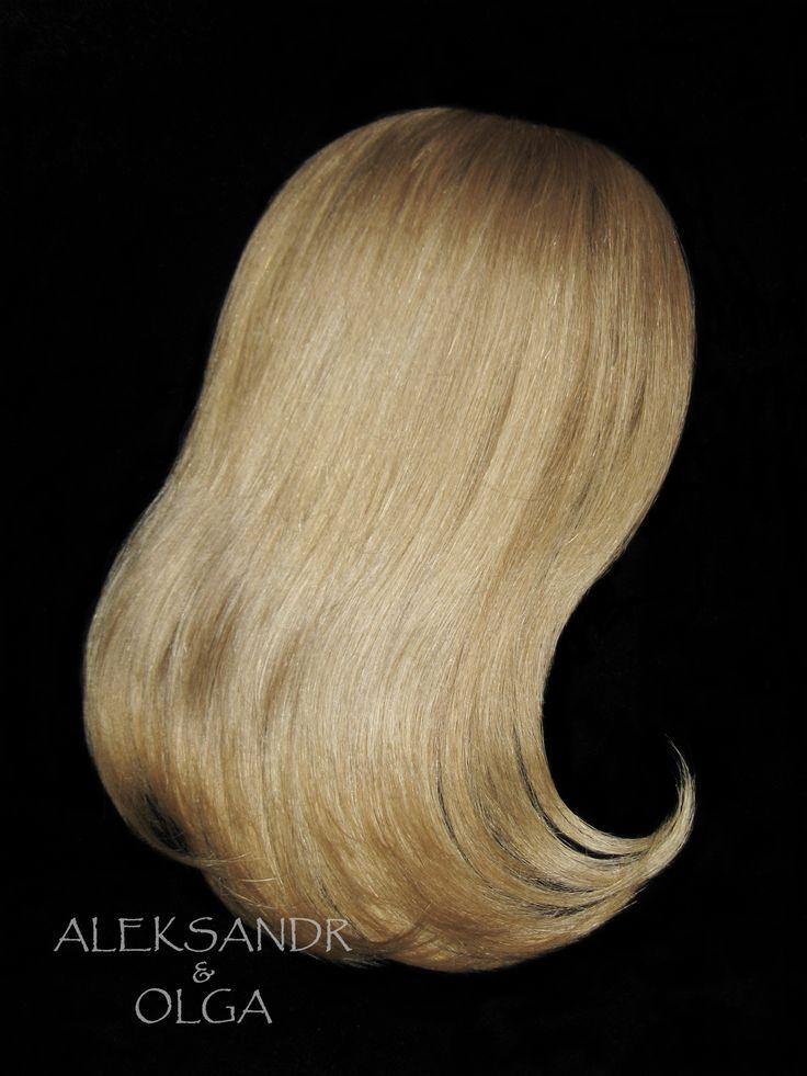 ШИНЬОН на заколках - постиж, светло-русый (ИЗ натуральных ВОЛОС) http://www.livemaster.ru/hair-collection http://www.aleksandr-and-olga.ru/