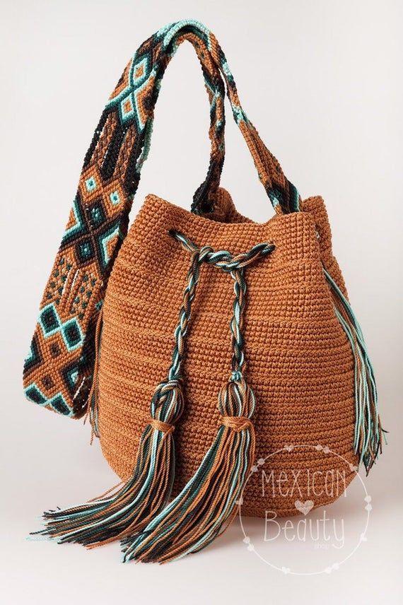 knitting bag boho