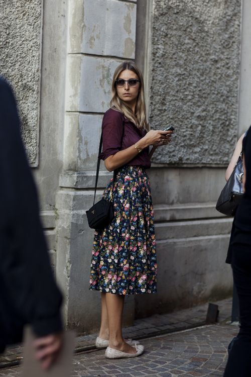 On the Street…Via Fogazzaro, Milan « The Sartorialist - it could be from the 1950s except for the cell phone in her hand!