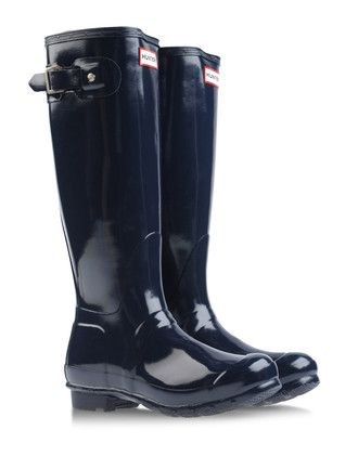 Hunter dark blue boots | Reg. $135 + 40% = $81 [IWANTSHOES ...