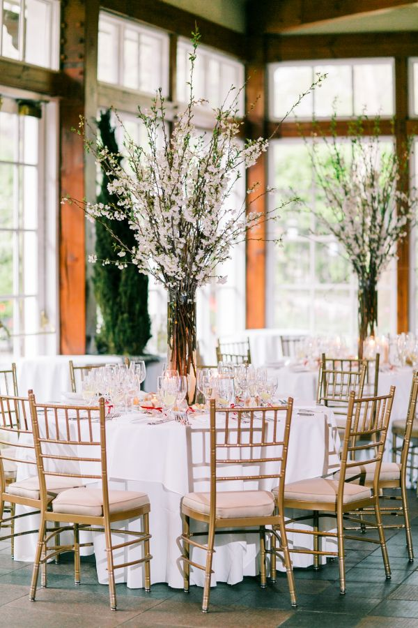 Cherry Blossom Centerpiece   photography by http://www.bhullphotography.com/