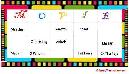 Bollywood Movies Tambola Game