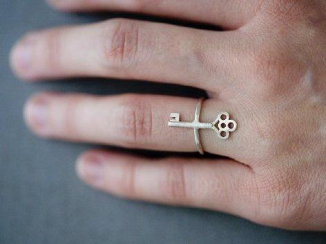 Supermarket - Skeleton Key Ring from Anne Kiel Jewelry