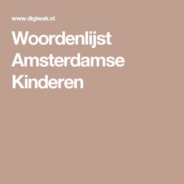 Woordenlijst Amsterdamse Kinderen