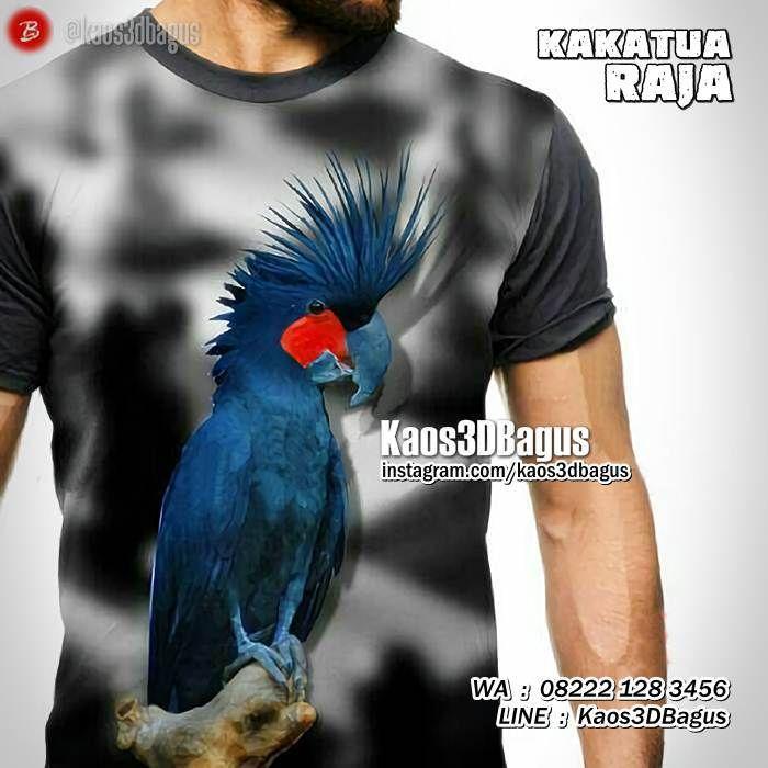 Kaos KAKATUA RAJA, Kaos BURUNG KAKATUA, Kaos3D, Parrot Lovers Indonesia, Kaos BURUNG, https://www.facebook.com/kaos3dbagus, WA : 08222 128 3456, LINE : Kaos3DBagus