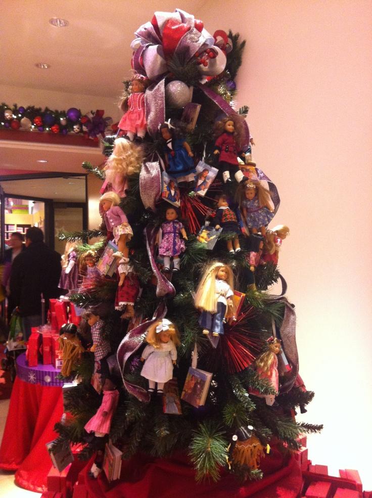 American girl christmas tree american girl dolls pinterest