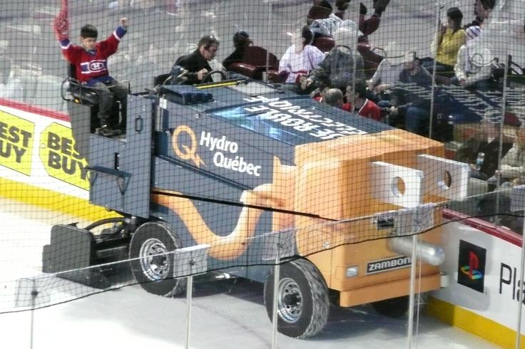 Hydro Quebec Zamboni and little Habs fan!