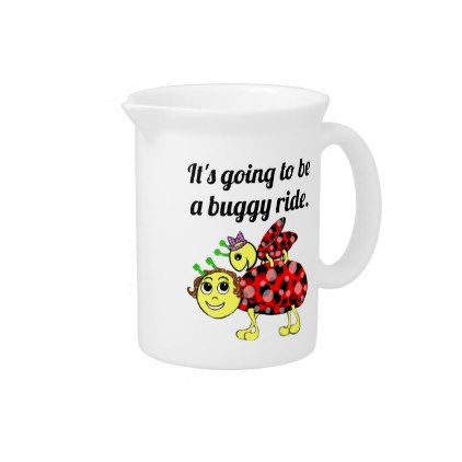 Ladybug Movie Buff bug juice Beverage Pitcher - home gifts ideas decor special unique custom individual customized individualized