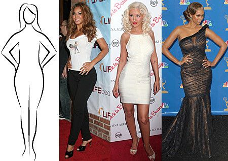 Celebrities with pear shaped bodies
