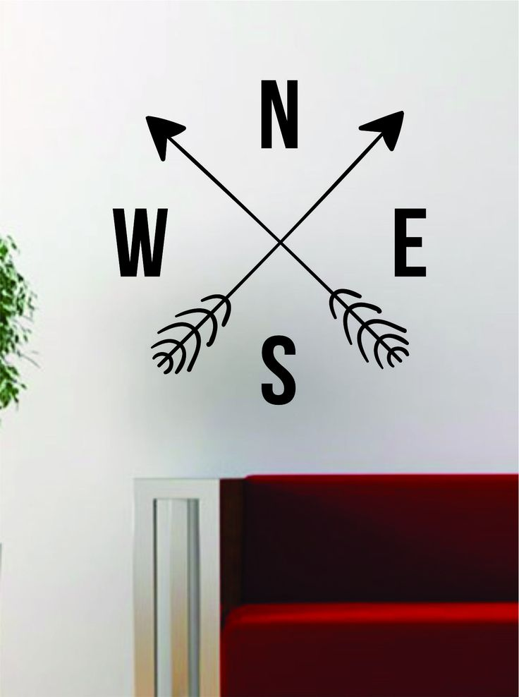 Arrows Compass The latest in home decorating. Beautiful wall vinyl decals, that are simple to apply, are a great accent piece for any room, come in an array of colors, and are a cheap alternative to a