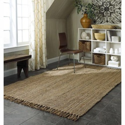 @Overstock - This rug is meticulously crafted by artisan rug makers with sustainably harvested jute, fast growing natural fiber. The fibers have a golden and silky shine and is truly an eco-friendly floor covering. The durable fibers are ideal for high traffic areas.http://www.overstock.com/Home-Garden/Handmade-Eco-Natural-Fiber-Chunky-Loop-Jute-Rug-8-x-10/5186325/product.html?CID=214117 $250.99