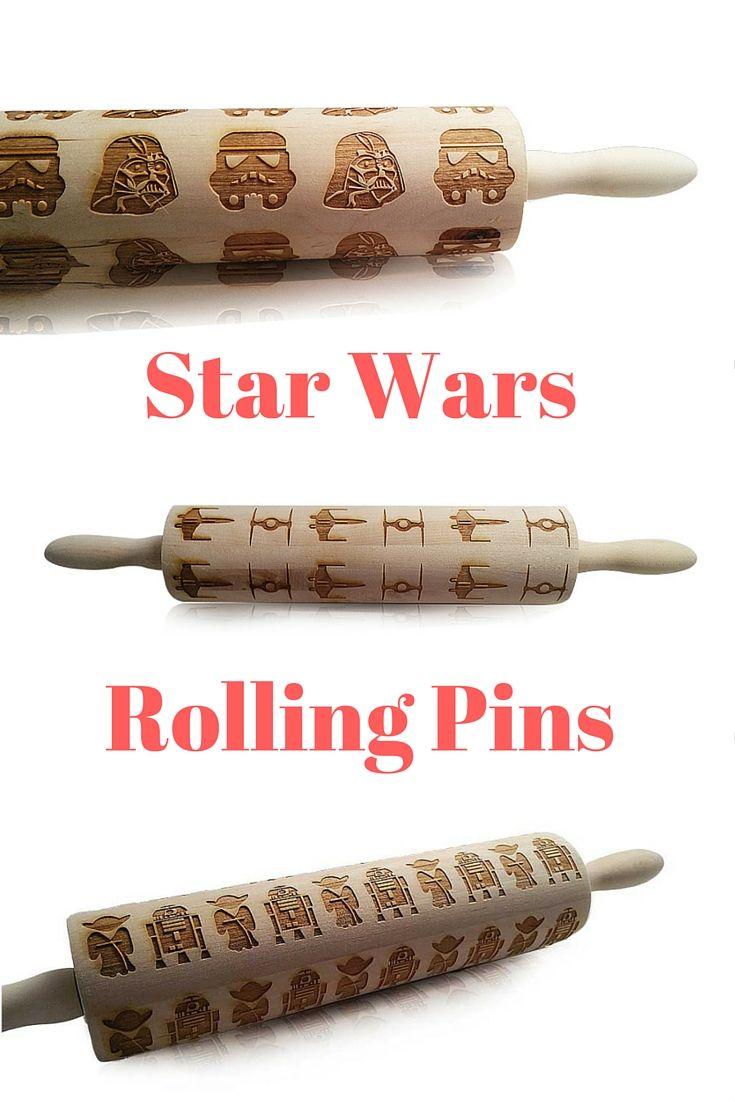 Star Wars, Star Wars Rolling Pins, Baking, Engraved Rolling Pins