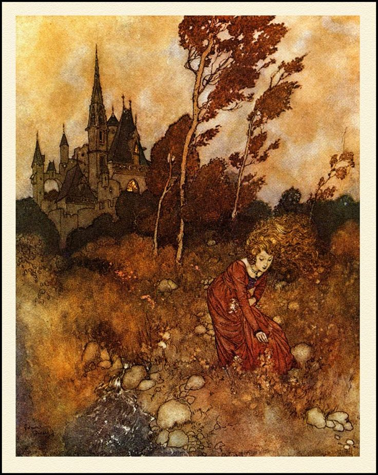 """Who has seen the wind? Neither you nor I: But when the trees bow down their heads, The wind is passing by. ~ Christina Rossetti, """"Who Has Seen the Wind?"""" (1872) """"The Wind's tale"""" by Edmund Dulac"""