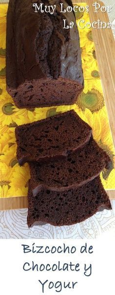 Bizcocho de Chocolate y Yogur: Puedes encontrarlo en www.muylocosporlacocina.com.