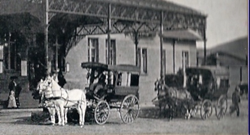 Detail from earlier picture of the Railway Station. Taken circa 1905. Pietermaritzburg, Natal