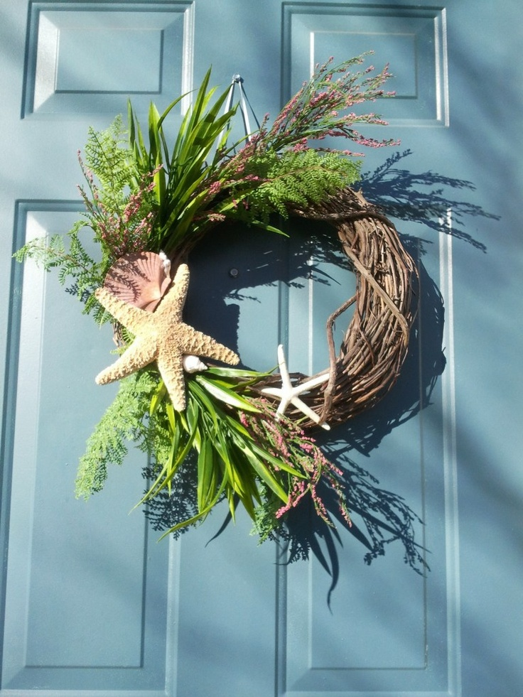 Beach Inspired Wreath Door Decor Pinterest Colors
