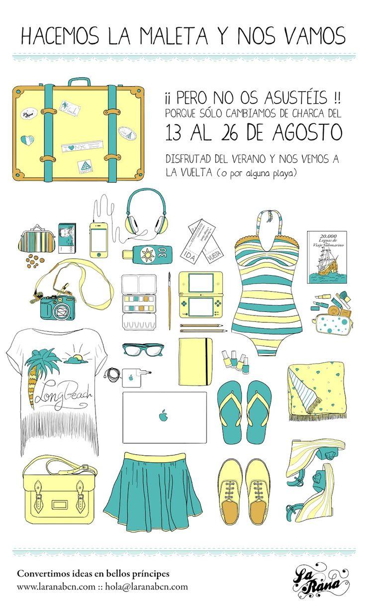 La Rana :: La charca de la imaginación  http://laranabcn.blogspot.com.es/2012/08/la-rana-prepara-la-maleta.html