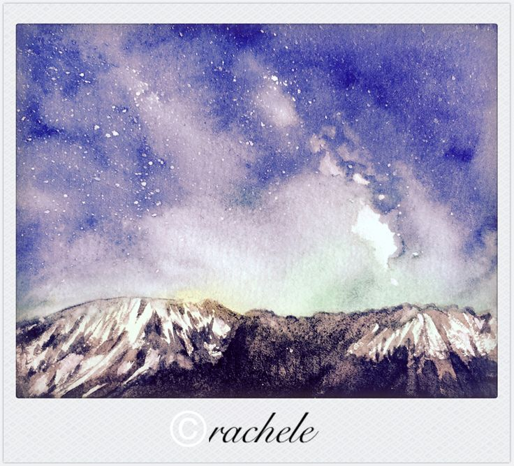 original watercolor painting by qianrong-rachele