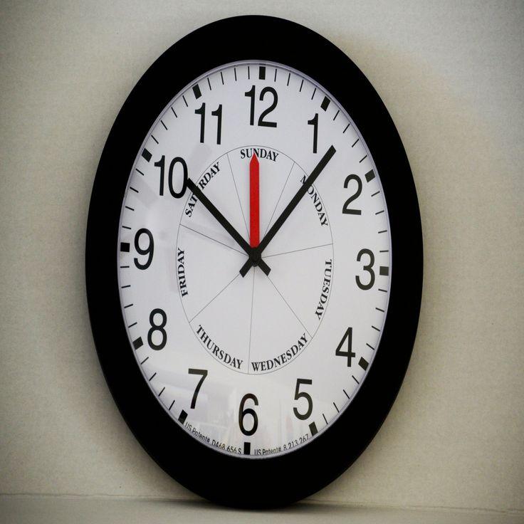 DayClocks Contemporary Black Wall Clock - CB