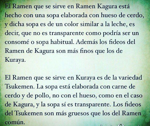 Aquí tenéis la diferencia entre el ramen de #Ramenkagura y #Kuraya Cuál os gusta más?