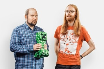 The developers of Minecraft are in TIME's list of 100 influential people! Markus Persson and Jens Bergenstan.