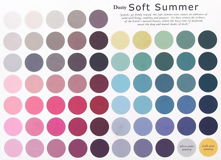 Dusty Soft Summer : with a drop of gray dusty cool colors