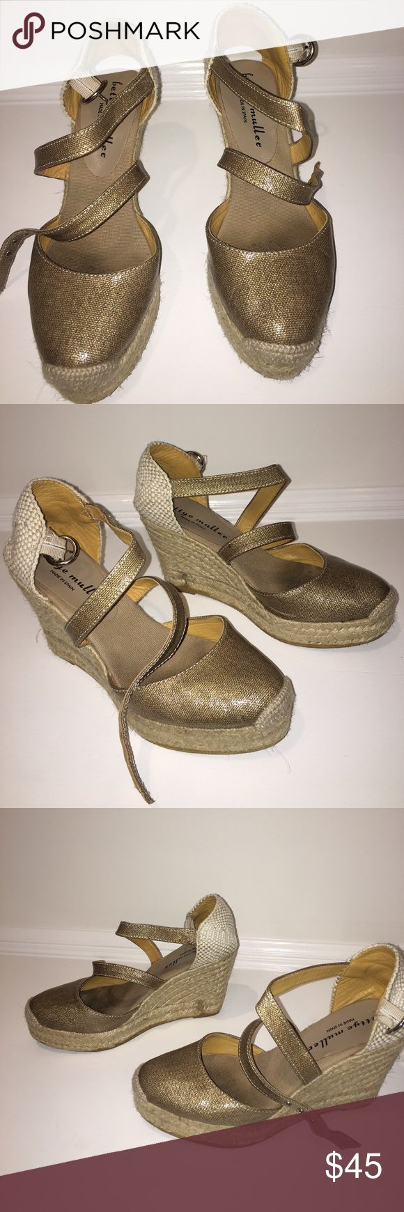 bettye muller espadrille shoes  ✨ Bettye Muller gold espadrilles ✨ previously loved but still have tons of life left ! Make an offer ! bettye muller Shoes Sandals