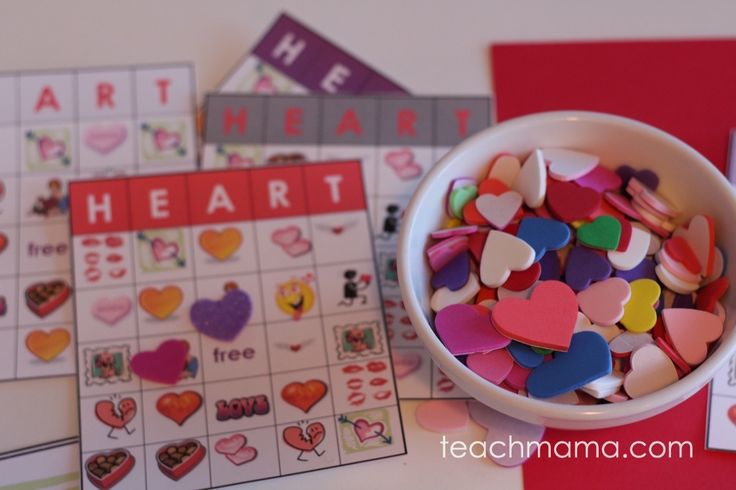 valentine's day heart bingo - teach mama