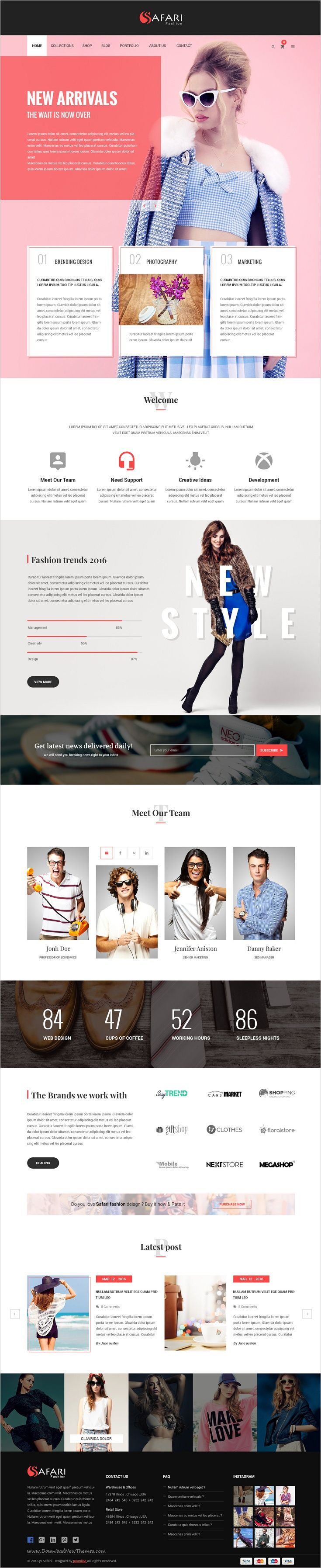 Safari is a clean and modern #PSD template for for multipurpose #fashion #store website with 6 unique homepage layouts and 51 organized PSD pages download now➯ https://themeforest.net/item/safari-multipurpose-psd-template-/16861892?ref=Datasata