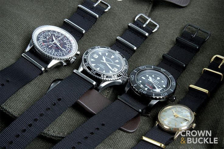 Black NATO Watch Strap (brushed or black hardware, so 2nd and 3rd options)