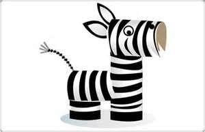 zebra craft - cardboard tubes